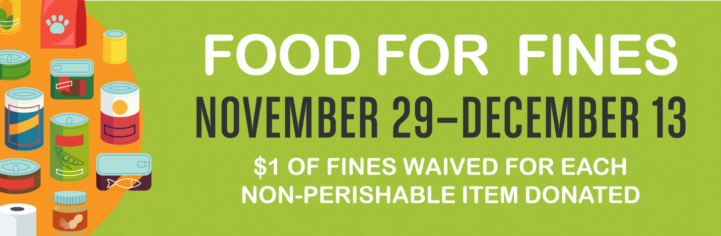 Food for Fines - November 29 - December 13